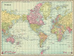 1913, World, World Map