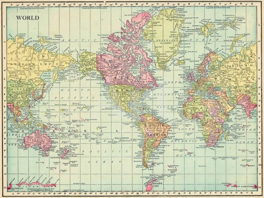 Map: All of the World\'s Borders by Age