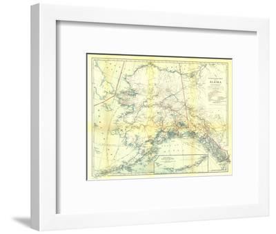 1914 Alaska Map-National Geographic Maps-Framed Art Print
