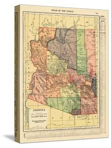 Beautiful Maps of Arizona canvas artwork for sale, Posters and ...