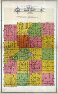 1914, Jasper County Outline Map, Iowa, United States