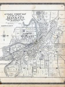1914, Mankato City Street Index Map, Minnesota, United States