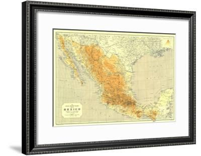 1914 Mexico Map-National Geographic Maps-Framed Art Print