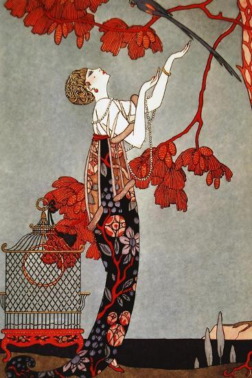 1914 Oriental Red, George Barbier-Vintage Apple Collection-Giclee Print