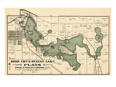 1914, Rome City and Sylvan Lake, Indiana, United States--Giclee Print