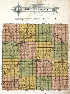 1915, Ringgold County Map, Iowa, United States