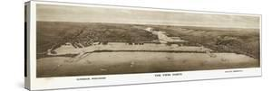 1915, Superior, WI and Duluth, MN Bird's Eye View, Wisconsin, United States