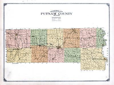 1916, Putnam County Topographical Map, Missouri, United States--Giclee Print