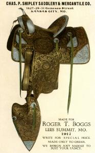 1917 Saddle Advertisement