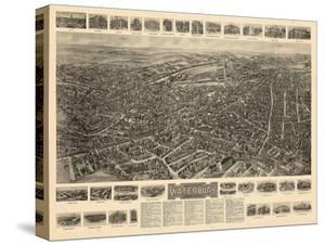 1917, Waterbury Aero View, Connecticut, United States