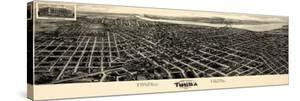 1918, Tulsa Bird's Eye View, Oklahoma, United States