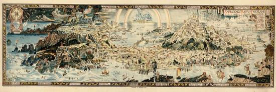1920, Fairyland Newly Discovered Anciente Mappe--Premium Giclee Print