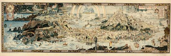 1920, Fairyland Newly Discovered Anciente Mappe--Giclee Print