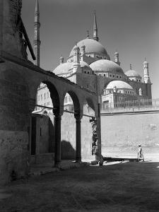 1920s-1930s Cairo, Egypt Architectural View of the Muhammad Ali Alabaster Mosque in the Citadel B