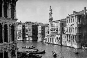 1920s-1930s Grand Canal from Rialto Bridge Venice, Italy