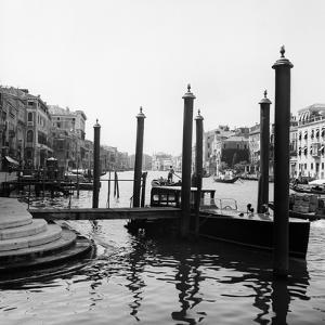 1920s-1930s Venice, Italy Gondolas Along Grand Canal