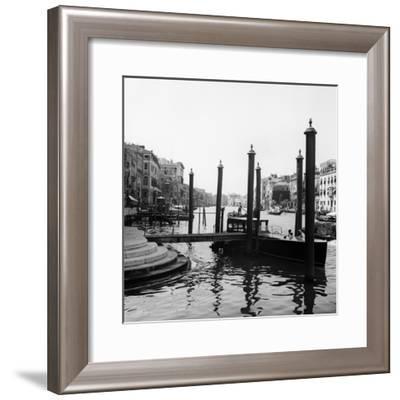 1920s-1930s Venice, Italy Gondolas Along Grand Canal--Framed Photographic Print
