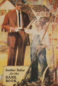 1920s American Banking Poster, Another Dollar for the Bank Book