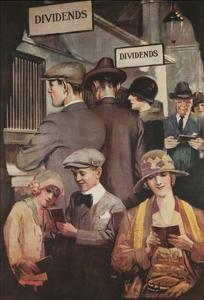 1920s American Banking Poster, Dividends