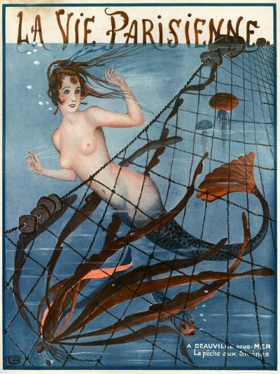 1920s France La Vie Parisienne Magazine Cover--Giclee Print