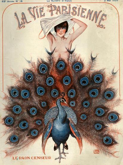 1920s France La Vie Parisienne Magazine Cover--Premium Giclee Print