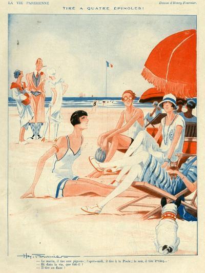 1920s France La Vie Parisienne Magazine Plate--Giclee Print