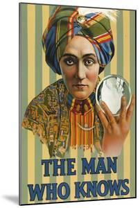 1920s USA The Man Who Knows Poster