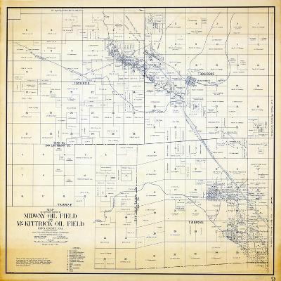 1921, Kern County Midway and McKittrick Oil Fields, California, United States--Giclee Print