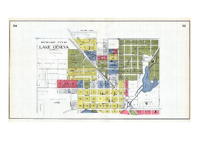 1921, Lake Geneva - North, Wisconsin, United States--Giclee Print