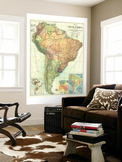 1921 South America Map-National Geographic Maps-Wall Mural