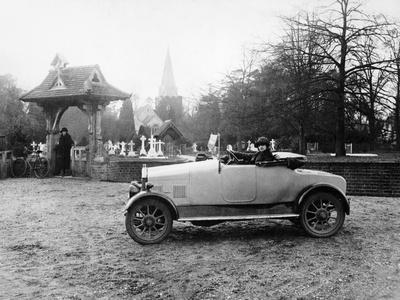 1922 11.9 Hp Calcott Outside a Church, (C1922)--Photographic Print