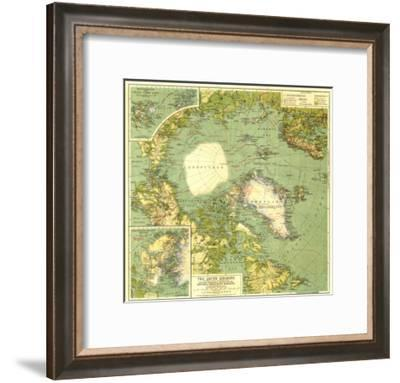 1925 Arctic Regions Map-National Geographic Maps-Framed Premium Giclee Print
