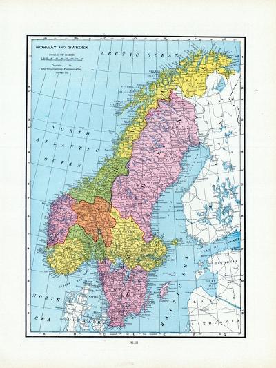 1925, Norway, Sweden, Europe--Giclee Print