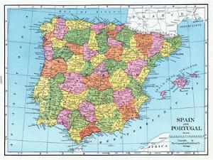 1925, Portugal, Spain, Europe