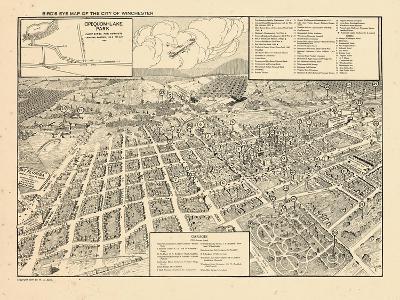 1926, Winchester Bird's Eye View, Virginia, United States--Giclee Print