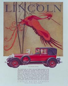 Beautiful Lincoln Car Vintage Art Artwork For Sale Posters And