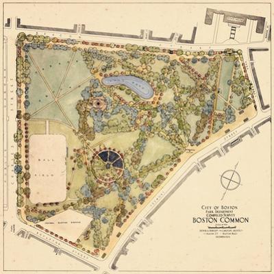 1929, Boston Commons Landscape Survey, Massachusetts, United States