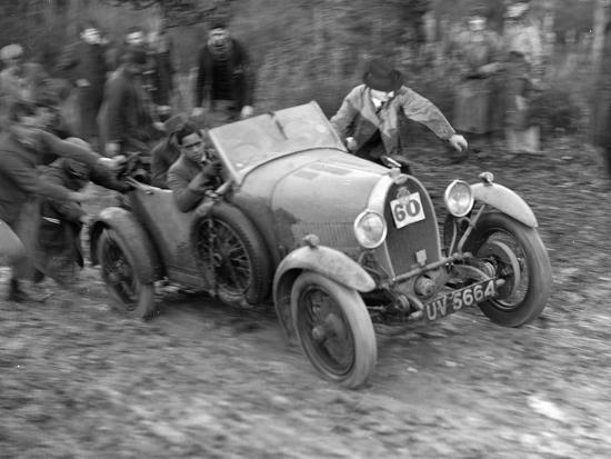 1929 Bugatti Type 40 open 4-seater Grand Sport taking part in the Inter-Varsity Trial, 1930-Bill Brunell-Photographic Print