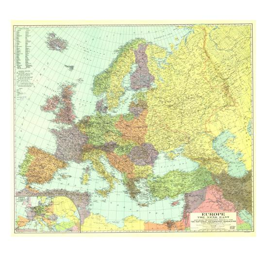 1929 Europe, and the Near East Map Art Print by National Geographic on map crafts, map google search, map japan, map of the dolls island, map nautical charts, map skill builder, art design, map painting, map dress, map united states history, map of documents, map mural, map of united states area code, map design, map china, map furniture, photography art, map south florida fair, architectural art, map australia, map of the mind, commercial art, map india, map wall paper,