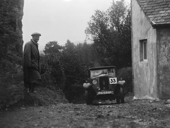 1929 Riley saloon of AP Squire competing in the JCC Lynton Trial, 1932-Bill Brunell-Photographic Print