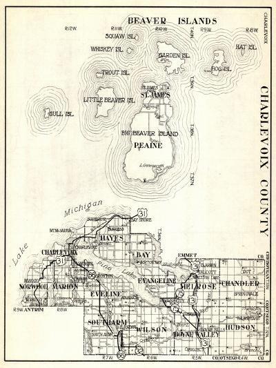 1930, Charlevoix County, St. James, Big Beaver Island, Peaine, Hayes, Evangeline, Chandler, Norwood--Giclee Print