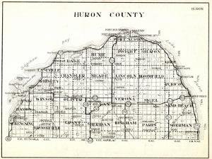 1930, Huron County, Caseville, Hume, Port Austin, Dwight, Winsor, Oliver, Colefax, Verona, Sigel, S