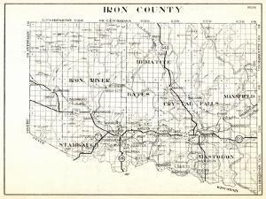 1930, Iron County, Hematite, Iron River, Bates, Crystal Falls, Mansfield, Stambaugh, Mastodon, Arms