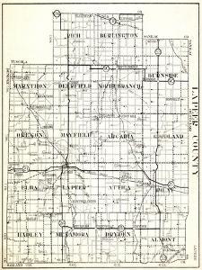 1930, Lapeer County, Rich, Burlington, Marathon, Deerfield, North Branch, Burnside, Oregon, Mayfiel