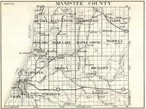 1930, Manistee County, Arcadia, Pleasanton, Springdale, Cleon, Onekama, Bear Lake, Maple Grove, Mic