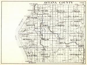 1930, Oceana County, Pentwater, Weare, Crystal, Colfax, Golden, Hart, Elbridge, Leavitt, Benona, Sh