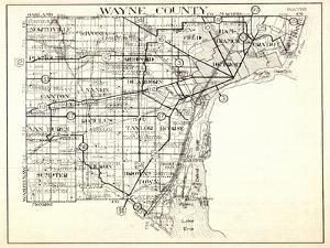 1930, Wayne County, Northville, Livonia, Plymouth, Van Huren, Romulus, Taylor, Browns Town, Sumpter