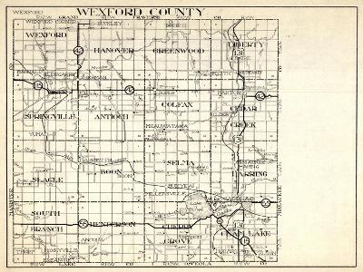 1930, Wexford County, Hanover, Greenwood, Liberty, Springville, antioch, Colfax, Slagle, Boon, Selm--Giclee Print