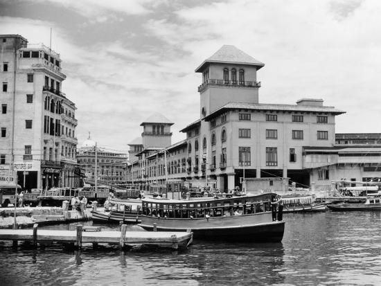 1930s-1940s Passenger Ferry at Waterfront Dock Havana Cuba--Photographic Print