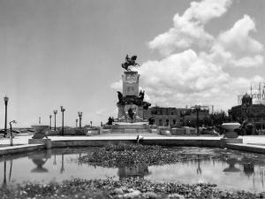 1930s-1940s Pond by Monument to General Maceo Havana Cuba